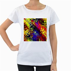 Awesome Fractal 35c Women s Loose Fit T Shirt (white)