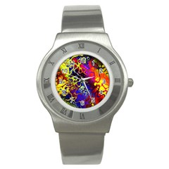 Awesome Fractal 35c Stainless Steel Watch