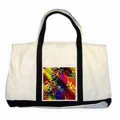 Awesome Fractal 35c Two Tone Tote Bag
