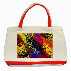 Awesome Fractal 35c Classic Tote Bag (red)