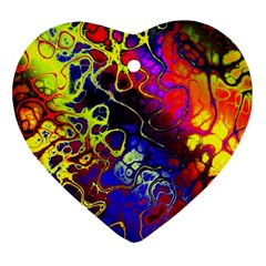 Awesome Fractal 35c Heart Ornament (two Sides)
