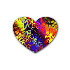 Awesome Fractal 35c Rubber Coaster (heart)