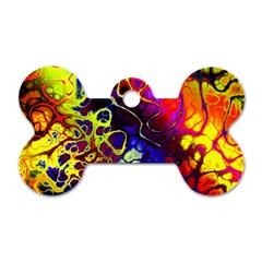 Awesome Fractal 35c Dog Tag Bone (two Sides)