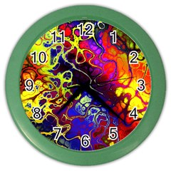 Awesome Fractal 35c Color Wall Clocks
