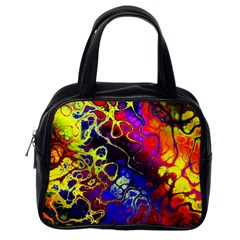 Awesome Fractal 35c Classic Handbags (one Side)