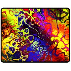 Awesome Fractal 35c Fleece Blanket (medium)