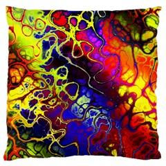 Awesome Fractal 35c Large Cushion Case (one Side)
