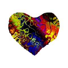 Awesome Fractal 35c Standard 16  Premium Heart Shape Cushions