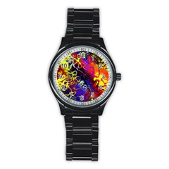 Awesome Fractal 35c Stainless Steel Round Watch
