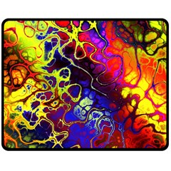 Awesome Fractal 35c Double Sided Fleece Blanket (medium)