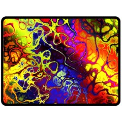 Awesome Fractal 35c Double Sided Fleece Blanket (large)
