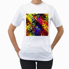 Awesome Fractal 35c Women s T Shirt (white)
