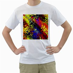 Awesome Fractal 35c Men s T Shirt (white)