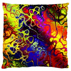 Awesome Fractal 35c Standard Flano Cushion Case (one Side)