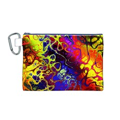 Awesome Fractal 35c Canvas Cosmetic Bag (m)