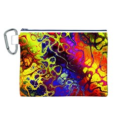 Awesome Fractal 35c Canvas Cosmetic Bag (l)