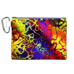Awesome Fractal 35c Canvas Cosmetic Bag (xl)