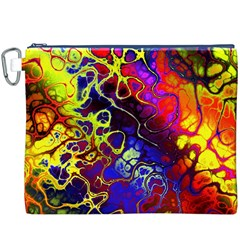 Awesome Fractal 35c Canvas Cosmetic Bag (xxxl)