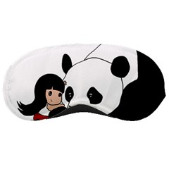 Girl And Panda Sleeping Masks