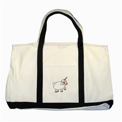 Unicorn Sheep Two Tone Tote Bag