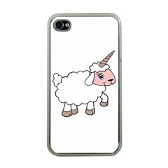 Unicorn Sheep Apple Iphone 4 Case (clear)
