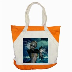 The Wonderful Water Fairy With Water Wings Accent Tote Bag