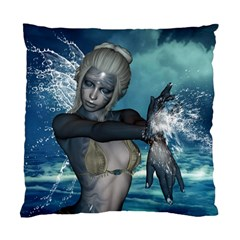The Wonderful Water Fairy With Water Wings Standard Cushion Case (two Sides)