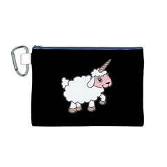 Unicorn Sheep Canvas Cosmetic Bag (m)