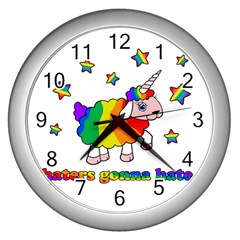 Unicorn Sheep Wall Clocks (silver)