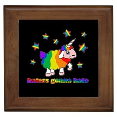 Unicorn Sheep Framed Tiles