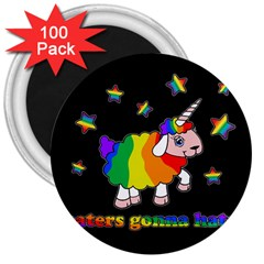 Unicorn Sheep 3  Magnets (100 Pack)