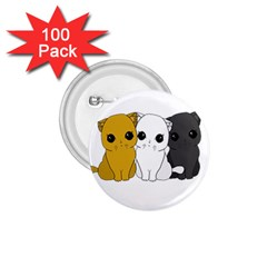 Cute Cats 1 75  Buttons (100 Pack)