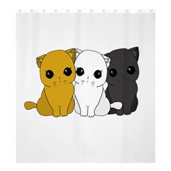 Cute Cats Shower Curtain 66  X 72  (large)