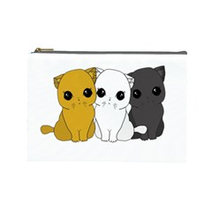 Cute Cats Cosmetic Bag (large)