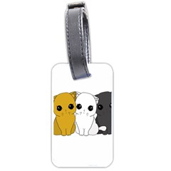 Cute Cats Luggage Tags (one Side)