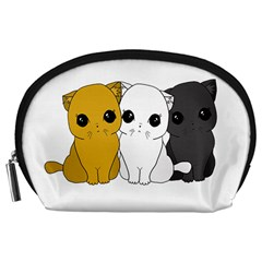 Cute Cats Accessory Pouches (large)