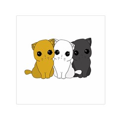 Cute Cats Small Satin Scarf (square)