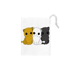 Cute Cats Drawstring Pouches (xs)