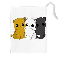 Cute Cats Drawstring Pouches (xxl)