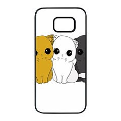 Cute Cats Samsung Galaxy S7 Edge Black Seamless Case