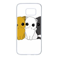 Cute Cats Samsung Galaxy S7 Edge White Seamless Case