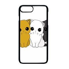 Cute Cats Apple Iphone 7 Plus Seamless Case (black)