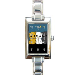 Cute Cats Rectangle Italian Charm Watch