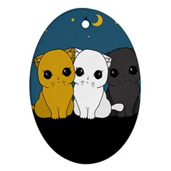 Cute Cats Ornament (oval)