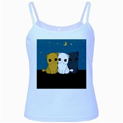 Cute Cats Baby Blue Spaghetti Tank