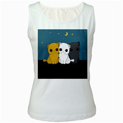 Cute Cats Women s White Tank Top