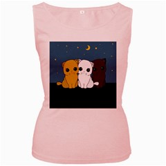 Cute Cats Women s Pink Tank Top