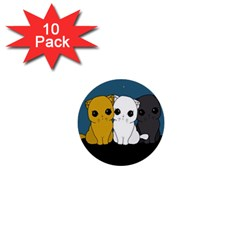 Cute Cats 1  Mini Buttons (10 Pack)