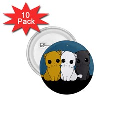 Cute Cats 1 75  Buttons (10 Pack)