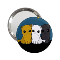 Cute Cats 2 25  Handbag Mirrors